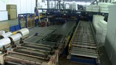 Sandwich panel production machine view from above