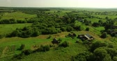 trees : Aerial view of Russian country summer landscape