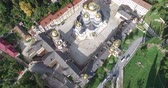cúpulas : Top view of a Christian monastery in New Athos, Abkhazia.