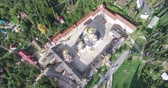 кресты : Top view of a Christian monastery in New Athos, Abkhazia.