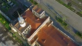 rozsdás : aerial survey of the old railway station in Sukhumi Abkhazia.