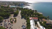 sevastopol : Sevastopol, Crimea-may 30, 2018: Aerial photography of the sea landscape with views of the coastline of the city.