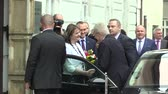 democrat : MOHELNICE, CZECH REPUBLIC, NOVEMBER 9, 2017: President of the Czech Republic Milos Zeman visiting Mohelnice in the Olomouc Region, the performance plus a greeting Stock Footage