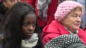 democrat : MOHELNICE, CZECH REPUBLIC, NOVEMBER 9, 2017: President of the Czech Republic Milos Zeman visiting Mohelnice, meeting at Kostelni Square, a girl of African descent and an older woman from Moravia Stock Footage