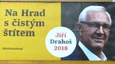 ridículo : OLOMOUC, CZECH REPUBLIC, DECEMBER 12, 2017: Billboard in support of the candidacy Jiri Drahos in direct election to the President of the Czech Republic in 2018