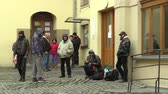 poskytnuté : OLOMOUC, CZECH REPUBLIC, JANUARY 3, 2018: The homeless charity center for the socially weak, the possibility of asylum to sleep overnight and the provided food and clothes Dostupné videozáznamy