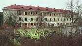 vaidade : OLOMOUC, CZECH REPUBLIC, JANUARY 18, 2018: The abandoned military building brownfield, where vandalism and grafitti spraying occurred. The object is a new manifestation of human vanity Vídeos