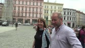 euforie : OLOMOUC CZECH REPUBLIC, MAY 9, 2018: Singer David Koller goes to the square in Olomouc at the coronation of the May King of Palacky University students Dostupné videozáznamy