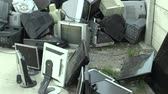 sorting : OLOMOUC, CZECH REPUBLIC, APRIL 25, 2018: Collection and sorting of electrical waste of monitors, televisions and other electronics. Danger waste for nature and the environment, requires recycling dump