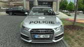 ministers : OLOMOUC, CZECH REPUBLIC, MAY 15 , 2018: Luxury police car of the Audi S6, cars used by Police Protection Service of the Czech, provides protection and security of the protected constitutional agents