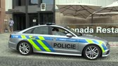 çıktısı : OLOMOUC, CZECH REPUBLIC, MAY 15 , 2018: Luxury police car of the Audi S6, cars used by Police Protection Service of the Czech, provides protection and security of the protected constitutional agents