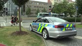 aceleração : OLOMOUC, CZECH REPUBLIC, MAY 15 , 2018: Luxury police car of the Audi S6, cars used by Police Protection Service of the Czech, provides protection and security of the protected constitutional agents