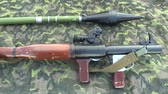 sete : OLOMOUC, CZECH REPUBLIC, MAY 5, 2018: Armor RPG 7 is a lightweight hand-held anti-tank weapon designed for the destruction of armored vehicles, field fortifications, grenade launcher