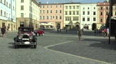Československo : OLOMOUC, CZECH REPUBLIC, JULY 5, 2018: Historic cars veterans on a public car ride through city of Olomouc drive people, first arriving of Chrysler 58 1925 and Aero 662 1930, Czech, Europe