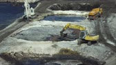 средство : OSTRAVA, CZECH REPUBLIC, AUGUST 28, 2018: Liquidation of remediation of landfills waste of oil and toxic substances, digger prepares oil pollution sludge for remediation