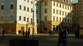 authentic : Historic square in the city of Olomouc with architectural buildings, monument landmark reserve and people walking and small city model, Horni namesti, Central Moravia, Czech Republic, Europe
