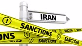 ограничение : Sanctions against Iran Стоковые видеозаписи
