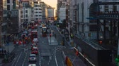 слои : Busy traffic time-lapse in London