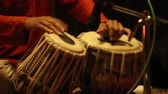 bang : Tabla - An Indian musical instrument, amazing drumming Stock Footage