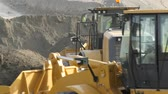 machinery : Spain, Malaga - October 20, 2014: Caterpillar earthmoving machines Stock Footage