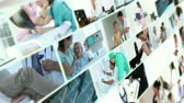healthcare : Montage of different kinds of medical situations
