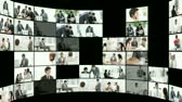 charming : Montage of serious business people at work. Business concept.