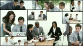 communication : Montage footage of Business team at work Stock Footage