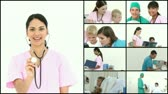 healthcare : Scene showing many doctors at work in full HD1080