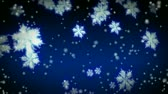 christmass : 3D Rendered Starglow Snowflakes and snow Stock Footage