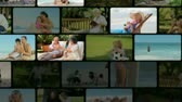 lifestyle : Montage of people outside Stock Footage