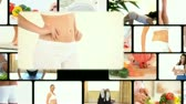 healthcare : Montage of women dieting