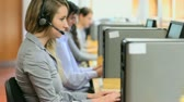 Young woman working in a call center