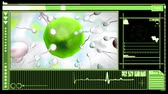ivf : Medical digital  interface showing egg cell fertilization in green and black Stock Footage