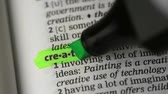 marcador : Definition of creative highlighted in the dictionary Stock Footage