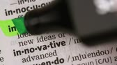 marcador : Definition of innovation highlighted in the dictionary