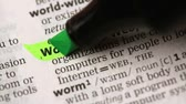 marcador : Definition of world wide web highlighted in the dictionary