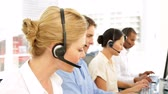 conversation : Call centre agent on a call at the office