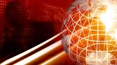 comunicação : Red high Definition Globe background Stock Footage
