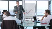 comunicação : CEO in a business meeting talking about business Projects Stock Footage