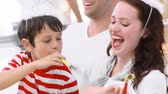 brother : Childrens birthday party  in 1080p format Stock Footage