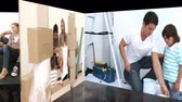 brother : Animation of families renovating a room at home