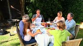 wedding : Family barbecue meal in the garden
