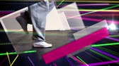 purple : Digital animation of Bright colourful laser beams shining Stock Footage