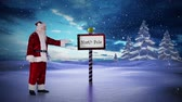 gerado por computador : Digital animation of Santa standing in the north pole