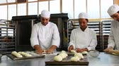 kitchen : Team of bakers working together in commercial kitchen