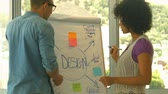 campus : Students working together during meeting in high quality 4k format Stock Footage