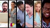 group : Digital montage of Creative business people