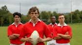 drills : Rugby players standing together at the pitch