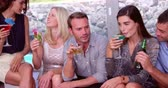 saúde : Friends having a drink at a party Stock Footage