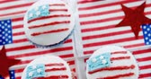 tatarak : Close-up of decorated cupcakes with 4th july theme